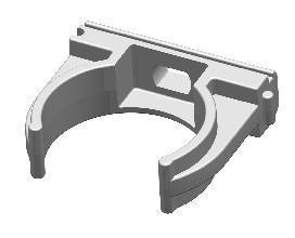 Vamzdžio laikiklis BALTPLAST 16MM/20, 16 mm, pilkos spalvos, 20 vnt.