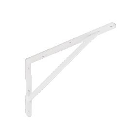 Lentynos laikiklis VELANO, WSWP 400 BI 400x250x4,0 mm, baltos spalvos, DMX 5196