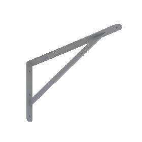 Lentynos laikiklis VELANO, WSWP 400 SZ 400x250x4,0 mm, pilkos spalvos, DMX 5351