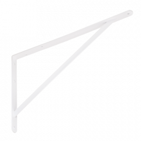 Lentynos laikiklis VELANO, WSWP 500 BI 500x330x4,0 mm, baltos spalvos, DMX 5198