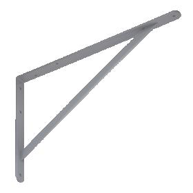 Lentynos laikiklis VELANO, WSWP 500 SZ 500x330x4,0 mm, pilkos spalvos, DMX 5352