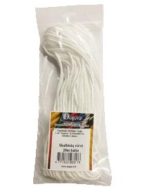 Skalbinių virvė 20 m DUGUVA  Baltos spalvos
