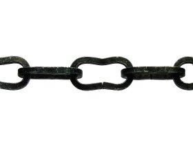 Dekoratyvinė grandinė 0036/5,0mm, plienas, cinkuotas, juoda spalva