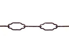 Dekoratyvinė grandinė 1688/2,8mm, dengtas vario sluoksniu, juodintas plienas