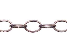 Dekoratyvinė grandinė 1844/4,0mm, dengtas vario sluoksniu, juodintas plienas