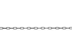 Laikrodžio grandinė, U2/1,4mm, juodasis plienas