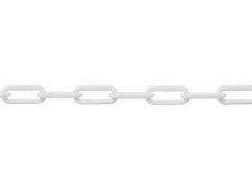Plastikinė grandinė, 4mm, baltos spalvos