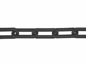 Plastikinė grandinė, 6mm , juodos spalvos