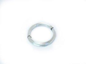 Aliuminio viela 2,0mm × 100g (ca. 12m), sidabro spalvos