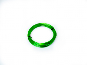Aliuminio viela 2,0mm × 100g (ca. 12m), žalios spalvos