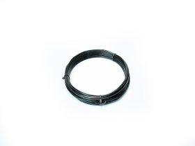 Plieninė viela, 3,8mm × 25m, cinkuota, juodos spalvos, PVC