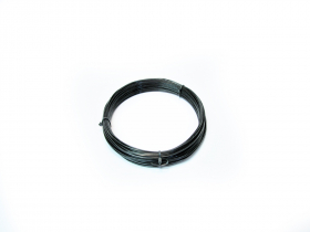 Plieninė viela, 3,8mm × 50m, cinkuota, juodos spalvos, PVC