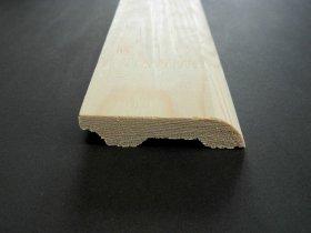 Grindjuostė, matmenys 14 x 68 x 2700 mm, baltos spalvos