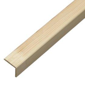 Išorinis kampas   Pušinis, lygus, matmenys 40 x 40 x 2750 mm