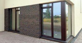 Fasadinės plytelės HANDMADE 205 x 63 x 17 mm, rudos spalvos, Lietuva. Išeiga vnt./m2 prie 12 mm siūlės 65 vnt.