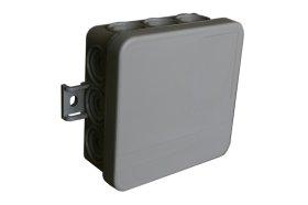 Paskirstymo dėžutė LIREGUS HMD-3, paviršinė, 84 x 84 x 37 mm, IP54, 400V, pilka, DIN EN 60670
