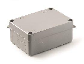 Paskirstymo dėžutė FAMATEL 3072, IP55, atspari UV spinduliams, plastmasė be halogenų, su vyriais, 1/4 varžtų pasukimas  matmenys 110 x 150 x 63 mm