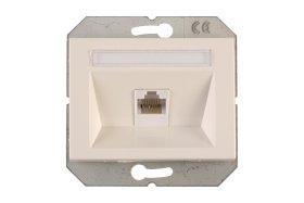 Kompiuterio lizdas VILMA KLRJ45-15e2-02 XP500 baltos sp.,