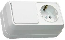 Blokų lizdas su jungikliu SIVA 14839