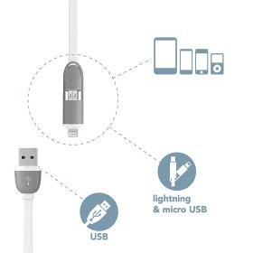 USB-micro USB/iPhone laidas ELECTRALINE 500335