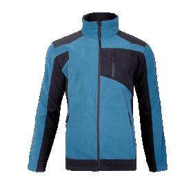 Džemperis LAHTI, CE,  atsegamas, turkio-juodos spalvos, 2XL