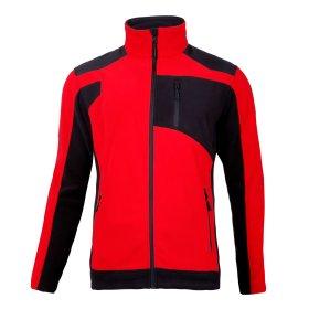 Džemperis LAHTI, CE,  atsegamas, raudonos-juodos spalvos, 2XL