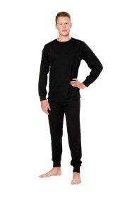Vyriški šilti marškiniai ilgomis rankovėmis HERVIN, 7860010, juodos sp., M, 220g