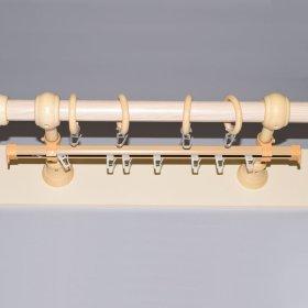 Karnizo bėgelis  Su furnitūra Skersmuo 28 mm, ilgis 4,0 m, šviesios rudos spalvos