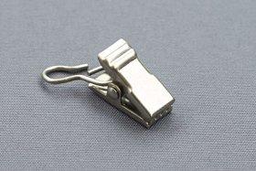 Segtukai  Metaliniai Skirti plienos lyno karnizui, šviesaus matinio sidarbo spalvos, 1mš.-30 vnt.