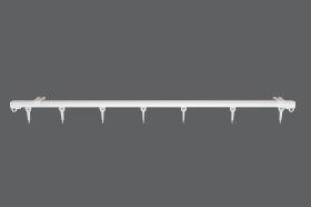 Aliuminio karnizo profilis U Sukomplektuotas