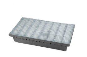 Batų valymo vonelė BIELBET Matmenys 600 x 400 x 100 mm  Su aliuminio ir gumos grotelėmis