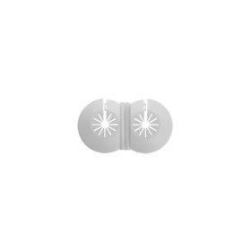 Apdailos gaubtas 5-22 dvigubas, universalus, baltas, plastikinis