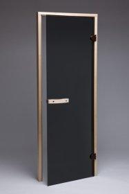 Saunos durys  SD-04GY08-S Matmenys 1900 x 700 mm, su stakta, pilkas stiklas, UŽS