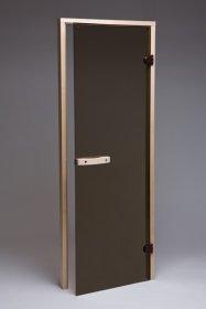 Saunos durys  SD-04BZ08-S Matmenys 1900 x 700 mm, su stakta, rudas stiklas, UŽS