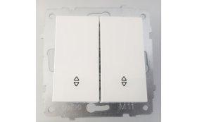 Perjungiklis OVIVO ELECTRIC, 2 klavišų, įleidžiamas, baltos spalvos, 0024184