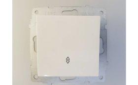 Perjungiklis OVIVO ELECTRIC, 1 klavišo, įleidžiamas, baltos spalvos, 0024182