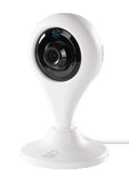 Išmanioji stebėjimo kamera DELTACO SMART HOME SH-IPC01, WiFi, valdoma su programėle, vidaus, 1 MP, 720p, IR detektorius 10 m, 1/4 CMOS, microSD, baltos spalvos