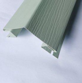Išorinis PVC kampas S 12 SIDING BOR  Ilgis 3,05 m, šviesios žalios spalvos