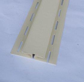 PVC sujungimo profilis S 18 SIDING BOR  Ilgis 3,81 m, kremo spalvos