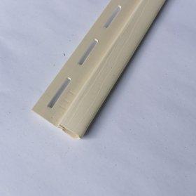 PVC užbaigimo profilis S 14 SIDING BOR  Ilgis 3,81 m, kremo spalvos