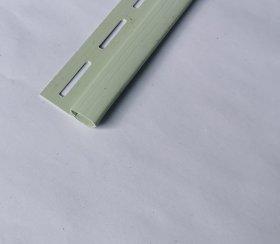 PVC užbaigimo profilis S 14 SIDING BOR  Ilgis 3,81 m,  šviesios žalios spalvos