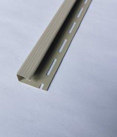 PVC J tipo profilis S 15 SIDING BOR  Ilgis 3,81 m, smėlio spalvos