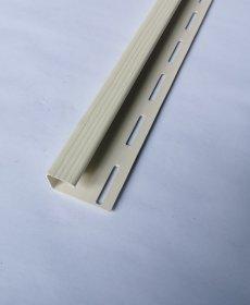 PVC J tipo profilis S 15 SIDING BOR  Ilgis 3,81 m, kremo spalvos