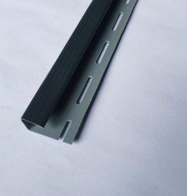 PVC J tipo profilis S 15 SIDING BOR  Ilgis 3,81 m, grafito spalvos