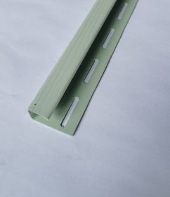 PVC J tipo profilis S 15 SIDING BOR  Ilgis 3,81 m, šviesios žalios spalvos