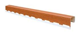 PVC J tipo profilis S 15 SIDING BOR  Ilgis 3,81 m, skirtas vėjalentei, auksinio ąžuolo spalvos