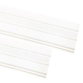 PVC pakalimo dailylentė SIDING BOR Perforuota Matmenys 0,305 x 3,39 m, baltos spalvos, 1 lentelė - 1,03395 m2