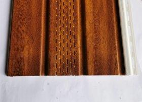 PVC pakalimo dailylentė SIDING BOR Perforuota Matmenys 0,305 x 3,39 m, auksinio ąžuolo spalvos, 1 lentelė - 1,03395 m2