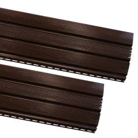 PVC pakalimo dailylentė SIDING BOR Perforuota Matmenys 0,305 x 3,39 m, rudos spalvos, 1 lentelė - 1,03395 m2