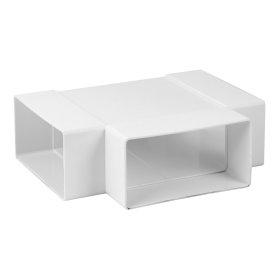 Trišakis 200 x 55  KT25 Ventiliacinis, plastikinis, baltas